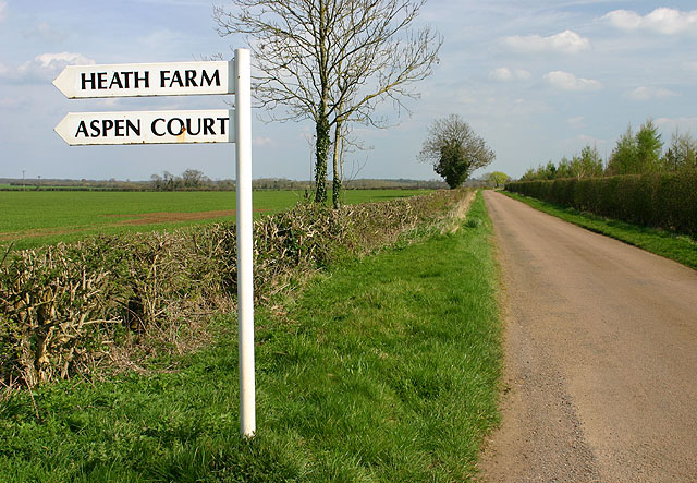 Signs on the road near Cottisford