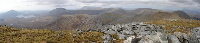 Panorama from Meallan Liath Coire Mhic Dhugaill