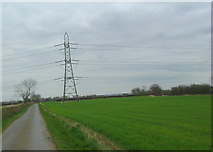 SP7978 : Power lines by Les Harvey