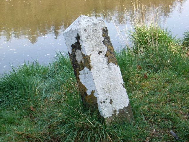 Milestone on Boyne Navigation Canal