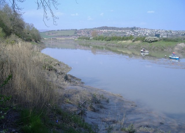 The River Usk, looking downstream