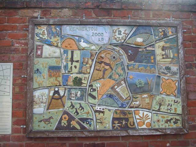 Mural at kemberton village hall a holmes cc by sa 2 0 for Mural village