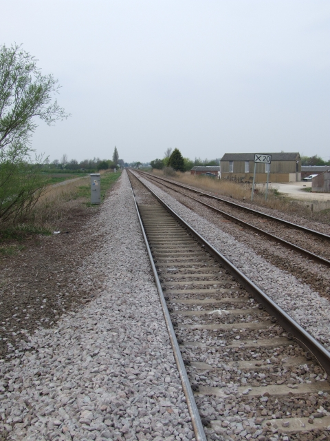 Railway line near March