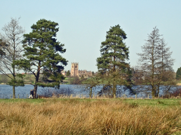 Big Mere and Marbury church