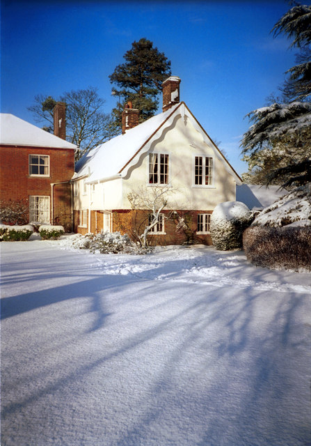 Manor Cottage - and a bit of Weston Manor - in the snow