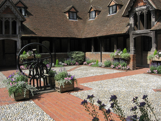 A tranquil courtyard