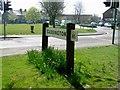 TL0619 : Caddington Village Sign by John Yaxley