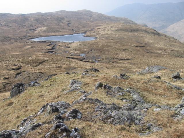 Small lochan on hill plateau
