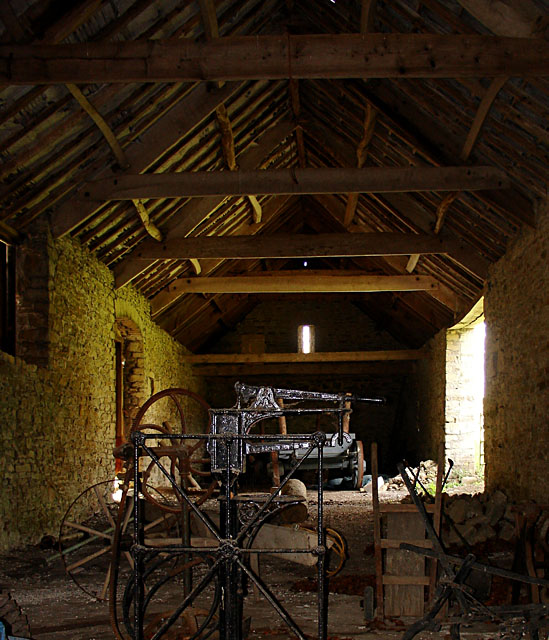 Interior of a barn at Old Lodge