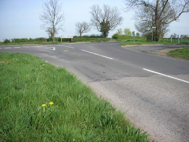 Hinwick Road crossing the Roman Road