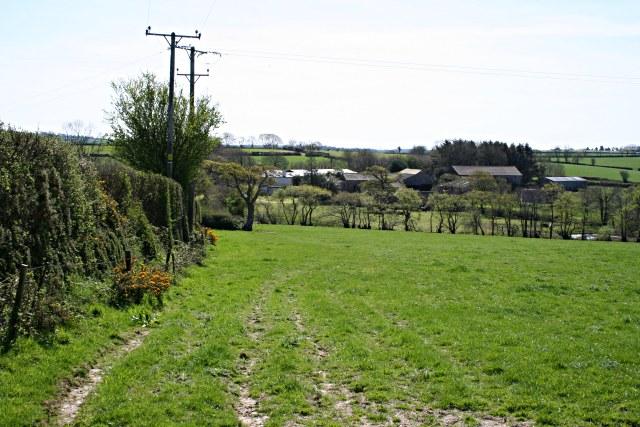 Across the fields to Trefinnick