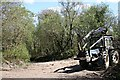 SX3071 : Forestry Tractor in Caradon Wood by Tony Atkin