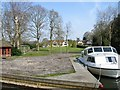 TG3421 : Private mooring and gardens, Limekiln Dyke by Nick Smith
