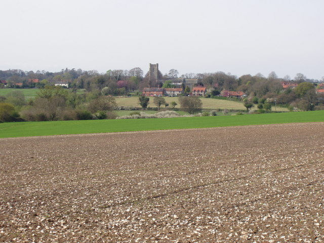 Looking across to Castle Acre