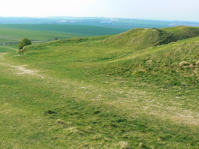Barbury Castle Hill Fort, near Swindon - western entrance