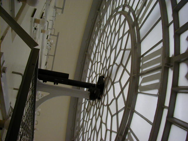 Rear of a clock face