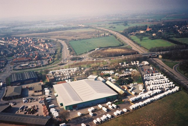 Brownhills Leisure World and A1 from the Air