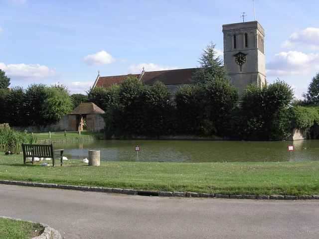Church and Duck pond