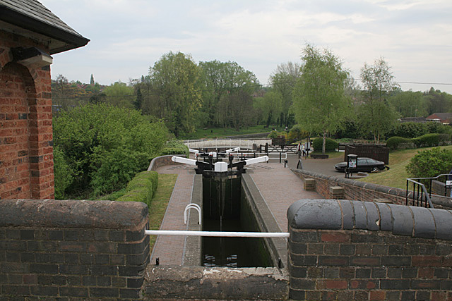 Bratch Locks - looking down the flight