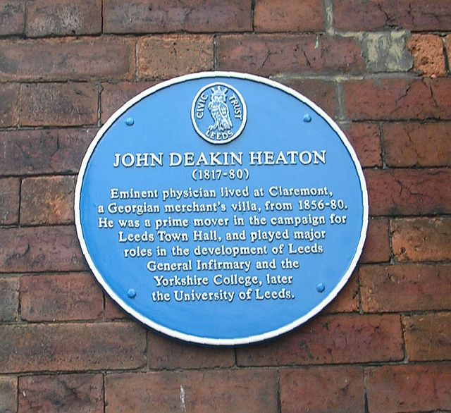 Blue Plaque on wall of Claremont - Clarendon Road