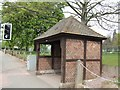 SJ8800 : Tudor style bus shelter, Upper Green, Tettenhall by John M