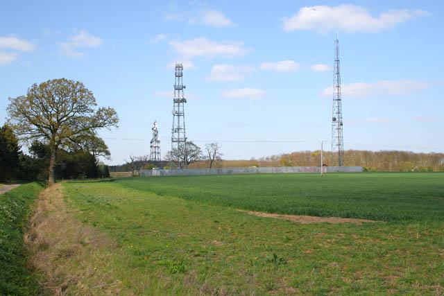 Masts near Callan's Lane