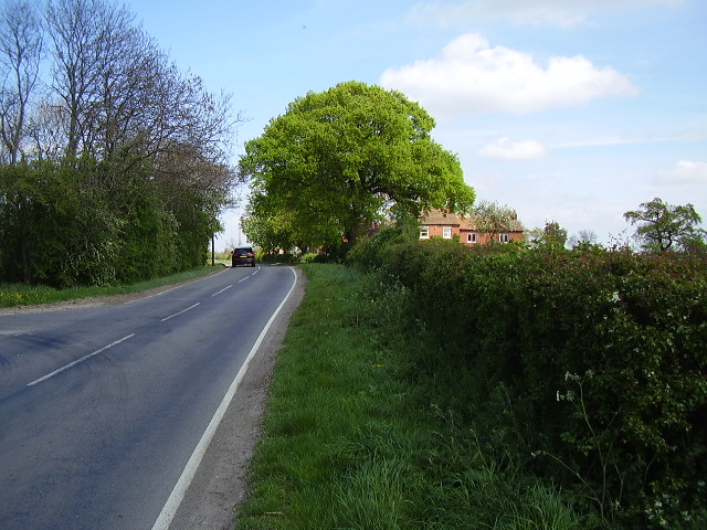 The road passing Fulbeck Grange