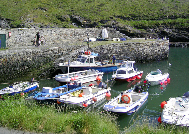 Boats in the safety of the Harbour