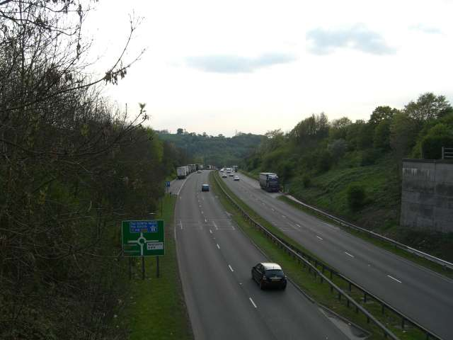 A500 looking towards M6 J15