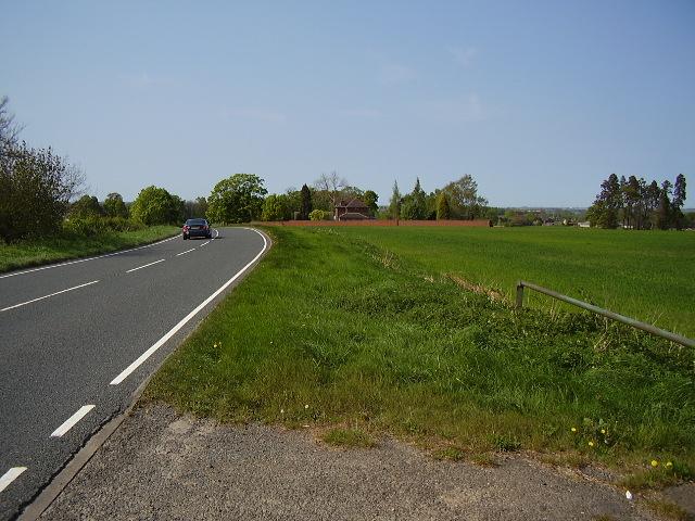A444 looking north towards Appleby Parva