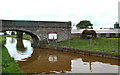 SJ7957 : Canal Bridge and farm. Trent and Mersey by Pauline E