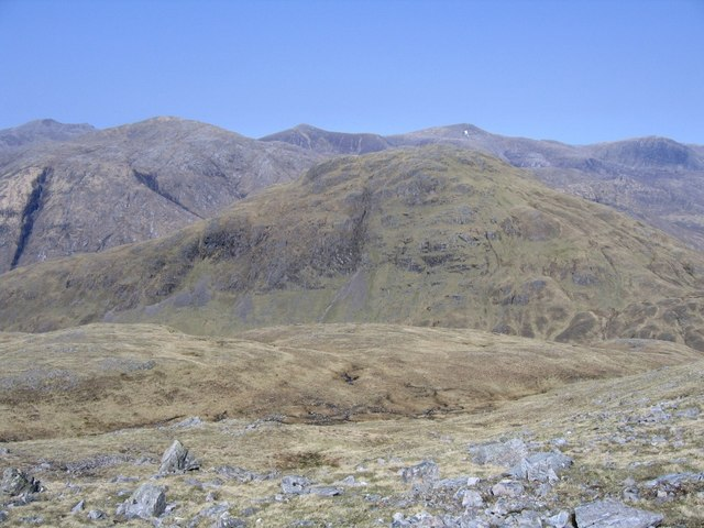 View from Meall Bheithe summit