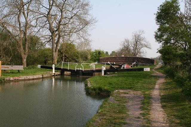 Lock No 64 and Bedwyn Church Bridge, Kennet and Avon Canal