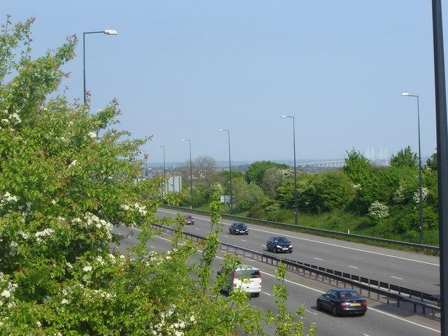 M 4 Motorway near Magor