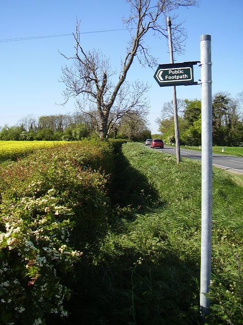 Start of footpath from B1188