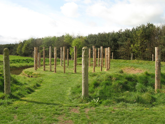 Maelmin - reconstruction of henge