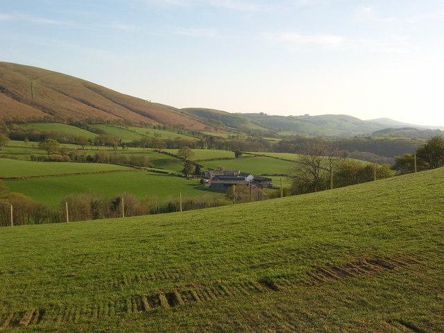 Cwmclyd farm located under Mynydd Bach,Myddfai