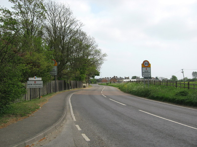 A259 entering New Romney