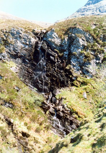 Waterfall on tributary of Allt Coire Sheasgaich