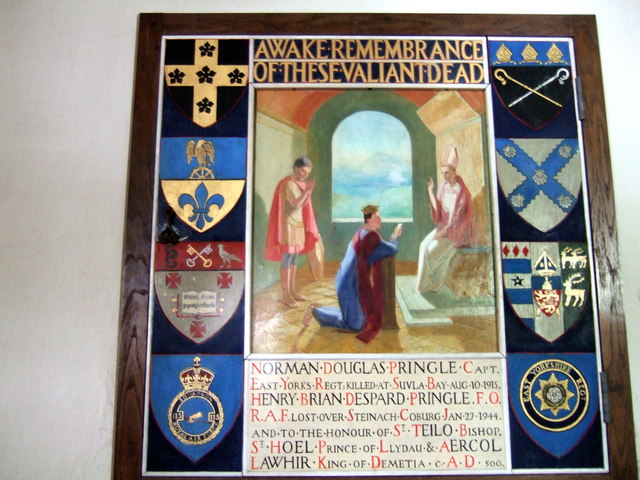 Memorial painting at Llanhywel