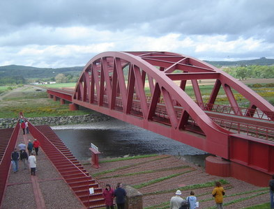 NX9383 : Railway Bridge over the River Nith by Ruth Sharville