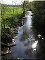 SX4383 : River Lyd at Marystow Bridge by Derek Harper