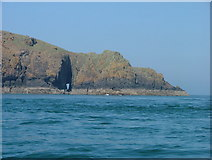 SM7409 : Sea Cave right through Skomer by Mike Graham