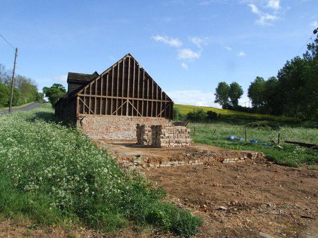 Barn renovation at Hillfoot Farm