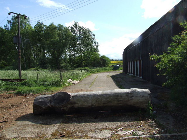 Blocked entrance to Hillfoot Farm
