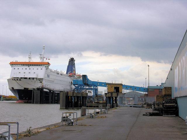 Zeebrugge ferry berth george robinson geograph britain and ireland - Where is zeebrugge ferry port ...