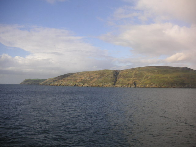 Coastline seen from the Belfast-Stranraer Ferry