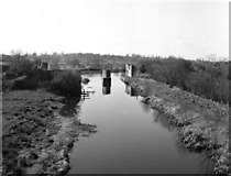ST9661 : Old railway bridge from Lower Foxhangers Bridge, Kennet and Avon Canal by Dr Neil Clifton