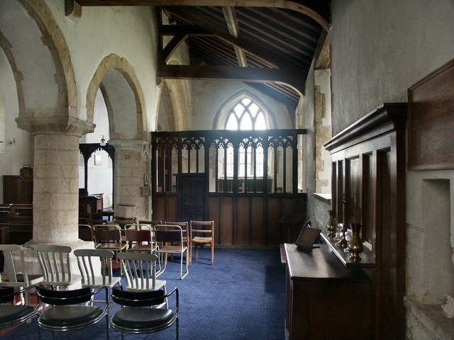 Interior of All Saints, Cadney cum Howsham