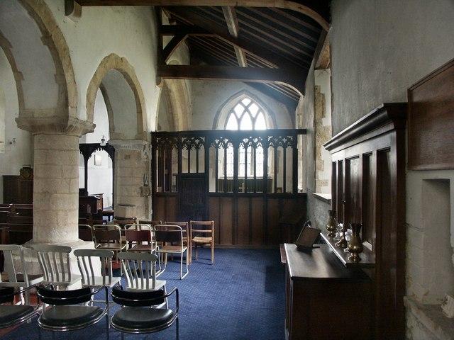 Interior of All Saints, Cadney cum Howsham